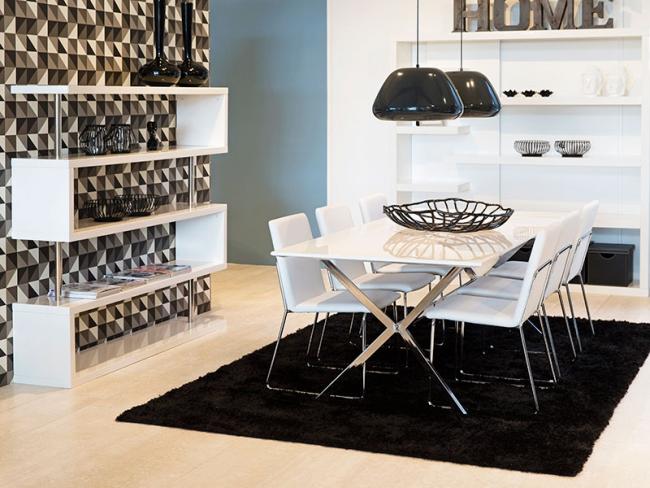 Černá a bílá v interiéru